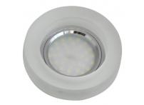 Встраиваемый хрустальный потолочный светильник под лампу MR-16 с LED подсветкой S4601L-M1 матовый