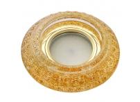 Встраиваемый хрустальный потолочный светильник под лампу MR-16 с LED подсветкой Y1578L-04 сияющее золото