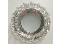 Встраиваемый хрустальный потолочный светильник под лампу MR-16 с LED подсветкой Y1584L-1 серебро