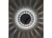 Встраиваемый хрустальный потолочный светильник под лампу MR-16 с LED подсветкой D0004L-11 прозрачный/белый