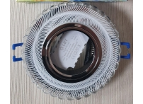 Встраиваемый хрустальный потолочный светильник под лампу MR-16 с LED подсветкой D0010L-11 прозрачный/белый