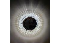 Встраиваемый хрустальный потолочный светильник под лампу MR-16 с LED подсветкой D0453L-11 прозрачный/белый