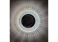 Встраиваемый хрустальный потолочный светильник под лампу MR-16 с LED подсветкой D0454L-11 прозрачный/белый