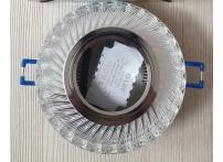 Встраиваемый хрустальный потолочный светильник под лампу MR-16 с LED подсветкой D0455L-11 прозрачный/белый