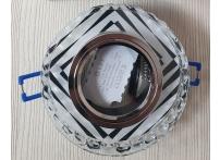 Встраиваемый хрустальный потолочный светильник под лампу MR-16 с LED подсветкой D0456L-13 прозрачный/черный