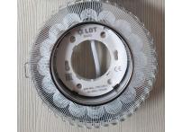 Встраиваемый хрустальный потолочный светильник под лампу GX-53 с LED подсветкой GX5327L-11 прозрачный/белый