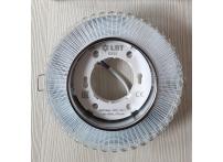 Встраиваемый хрустальный потолочный светильник под лампу GX-53 с LED подсветкой GX5332L-11 прозрачный/белый