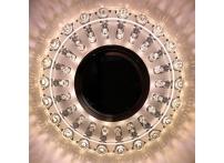 Встраиваемый акриловый потолочный светильник под лампу MR-16 с LED подсветкой K1152L-1 прозрачный