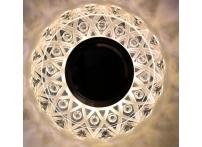 Встраиваемый акриловый потолочный светильник под лампу MR-16 с LED подсветкой K1154L-1 прозрачный
