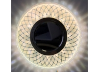 Встраиваемый акриловый потолочный светильник под лампу MR-16 с LED подсветкой K1160L-1 прозрачный