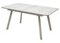 Стол ARUBA 160 BEIGE / CAPPUCINO глазурованное стекло