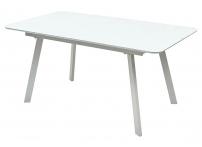 Стол ARUBA 140 WHITE / cупер белое глянцевое стекло
