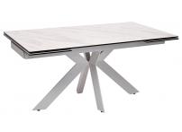 Стол BELLUNO 160 MARBLES KL-99 итальянская керамика/ белый каркас