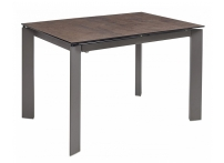 Обеденный стол CORNER 120 IRON COPPER