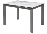Обеденный стол CORNER 120 Керамика глянцевая под Серый мрамор