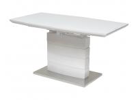 Стол CROSBY 140 Белый, матовое стекло