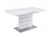 Обеденный стол QUADRO 140 Белый глянец