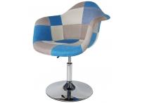 Барное кресло Eames Пэтчворк Mobil Blue