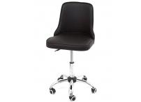 Компьютерный стул на роликах Adam 942-5 черный хром