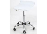 Компьютерный стул на роликах Сrim 2w17 белый хром