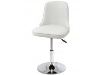 Компьютерный стул поворотный Adam 942-5 белый хром