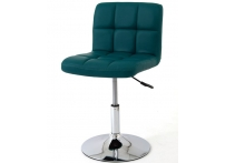 Компьютерный стул поворотный KRUGER 811A зелёный хром
