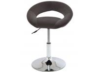 Компьютерный стул поворотный Mira S-905 серый велюр хром