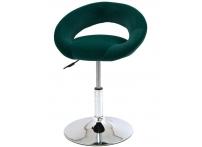 Компьютерный стул поворотный Mira S-905 зеленый велюр хром