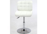 Компьютерный стул поворотный S-939 белый хром
