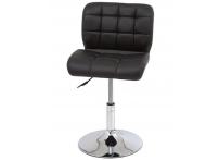 Компьютерный стул поворотный S-939 черный хром