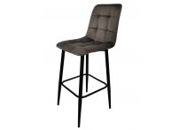Полубарный стул SPICE серый велюр 60 см