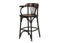 Венский барный стул 65 темный тон