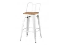 Полубарный стул TOLIX WOOD Белый
