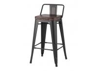 Полубарный стул TOLIX SOFT Черный