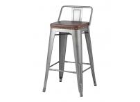 Полубарный стул TOLIX SOFT Серебристый