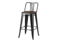 Полубарный стул TOLIX WOOD Черный
