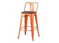 Полубарный стул TOLIX WOOD Оранжевый