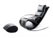 Кресло-качалка S001 MK-5503-BL с пуфом