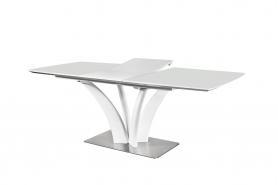 Обеденный стол FLORA 160 WHITE SATIN