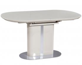 Обеденный стол DISCOVERY 140 Латте сатинированное стекло