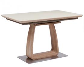 Обеденный стол VETRO 120 Крем / Дуб