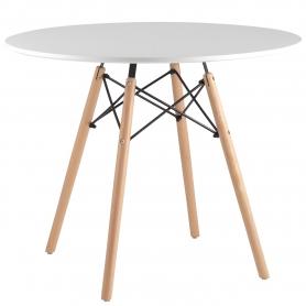 Обеденный стол EAMES DSW d90 белый