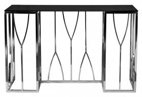 Консоль черное стекло/хром 13RXC3102-SILVER