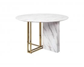 Стол обеденный круглый (искусственный мрамор) 30F-1171-1