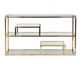 Консоль прозрачное стекло/золото GY-CST8005GOLD