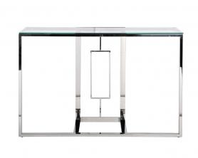 Консоль прозрачное стекло/хром 47ED-CST067