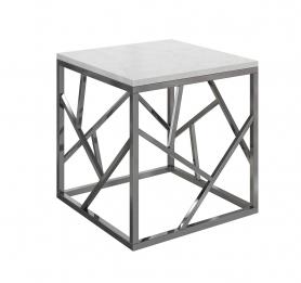 Журнальный столик с мраморной столешницей GY-ET2051214BLSM