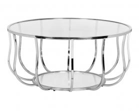 Стол журнальный металлический (хром) 13RXCT4033-SILVER