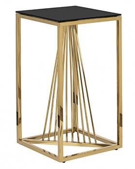 Столик журнальный 13RXET8082L-GOLD черное стекло / золото