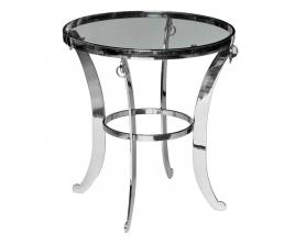 Журнальный столик с прозрачным стеклом 13RXT6024-SILVER